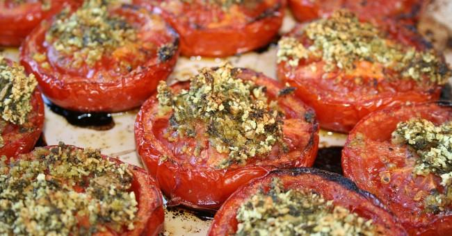 Tomates cuites au four